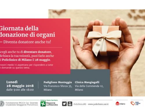 Diventa donatore anche tu, al Policlinico di Milano!